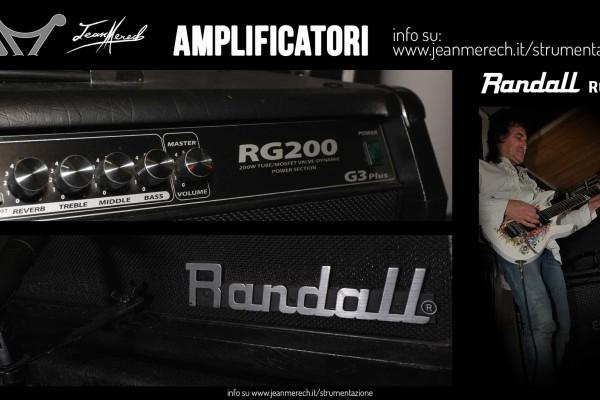 Combo mosfet Randall RG200 utilizzato da Jean Merech