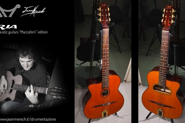 Chitarre acustiche Aria modello Gipsy della serie Maccaferri