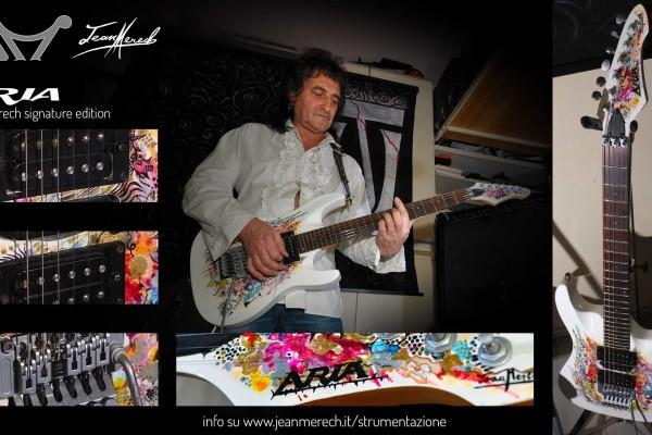 La chitarra Aria signature Jean Merech