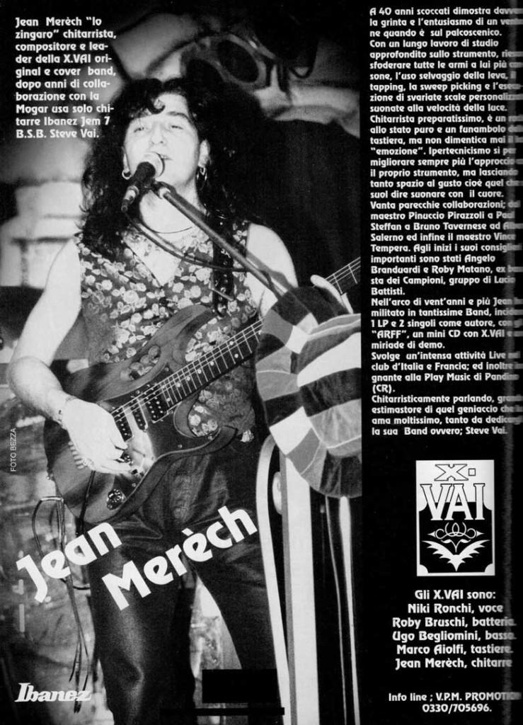 Jean Merech e gli X-Vai recensiti su Guitar Club del Marzo 1999