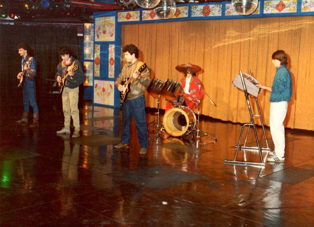 Jean Merech con gli ARFF durante le registrazioni televisive di un concerto