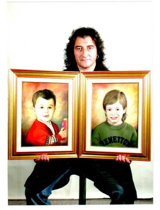Jean si classifica primo e secondo con i due ritratti a bambini pandinesi