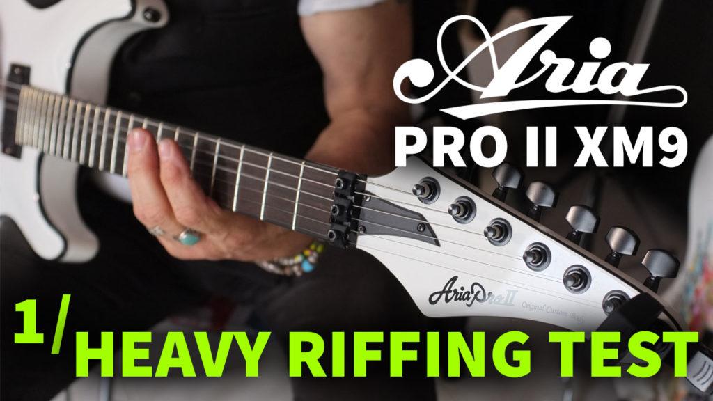 Aria Pro II XM9 Heavy metal guitar EMG pickup