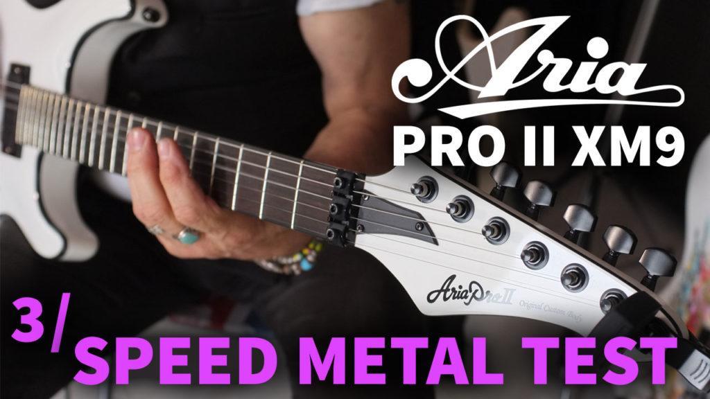 Aria Pro II XM9 Speed Metal EMG-81 EMG-85